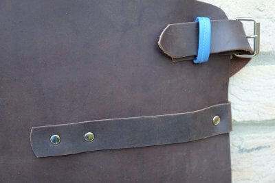 Leather Apron - Towel holder and buckle detail