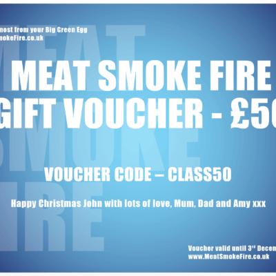 Meat Smoke Fire Gift Voucher