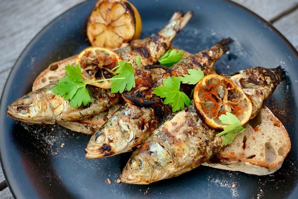 Sardines on sourdough