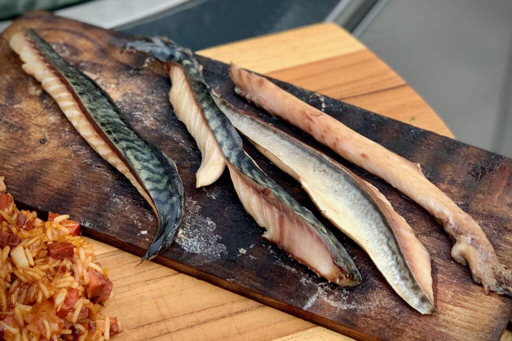 Cured plank smoked mackerel